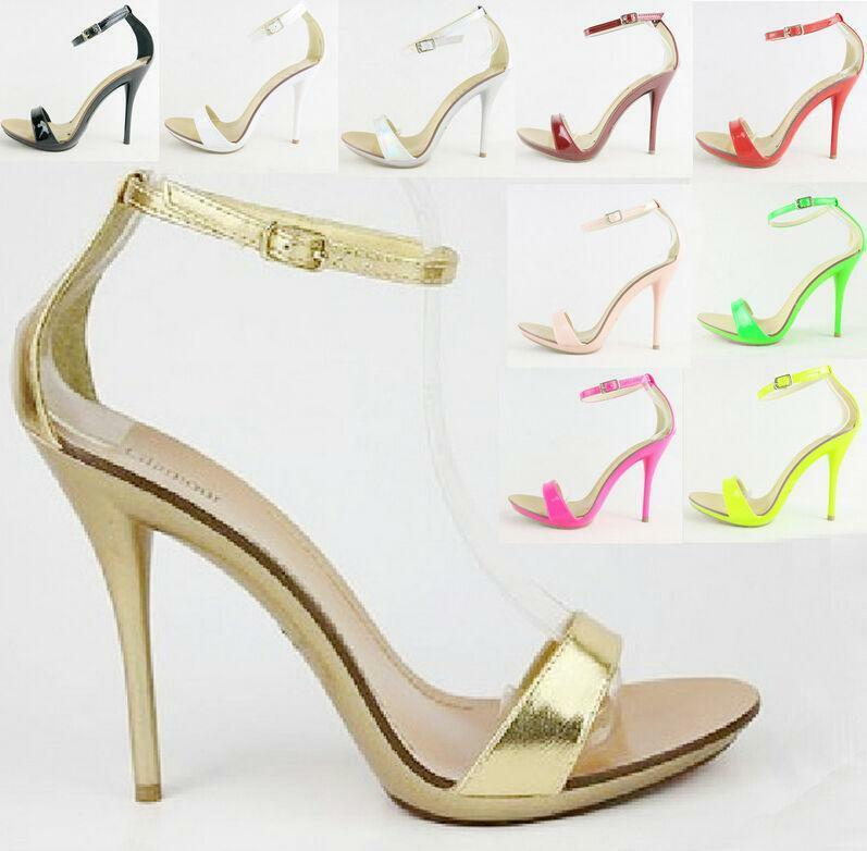 9Colors Ankle Strap Pumps Womens Stiletto Womens Pumps Evening Shoes OL High Heels Candy 2018 8f8f4a