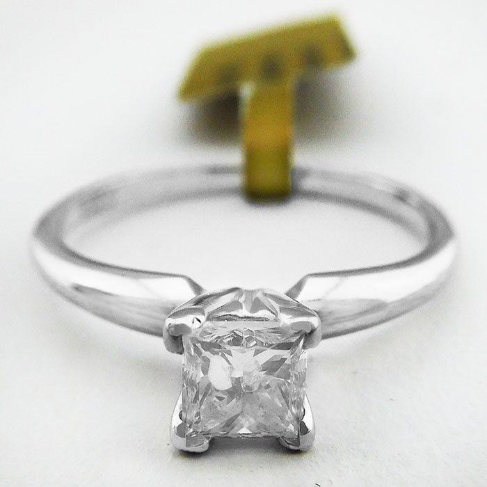GENUINE 0.33 Cts DIAMOND 14K WHITE gold ENGAGEMENT RING   Free Appraisal