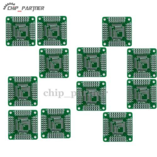 5-20Pcs TQFP44//LQFP//FQFP 32//64//80//100 to DIP Adapter PCB Board Converter Lot