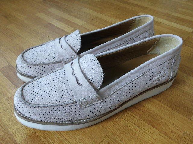 MELVIN & HAMILTON Leder Loafer Slipper Mokassin Perfo Rose Gr. 38 -wie NEU-