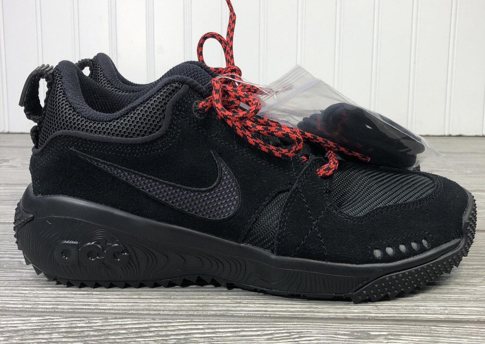 Nike ACG Dog Mountain Hiking Trail Shoes Black AQ0916-003 Men's 4.5, Women's 6