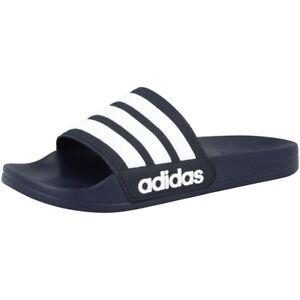 Details zu Adidas Adilette Shower Badelatschen Badeschuhe Sandalen Schuhe navy white AQ1703