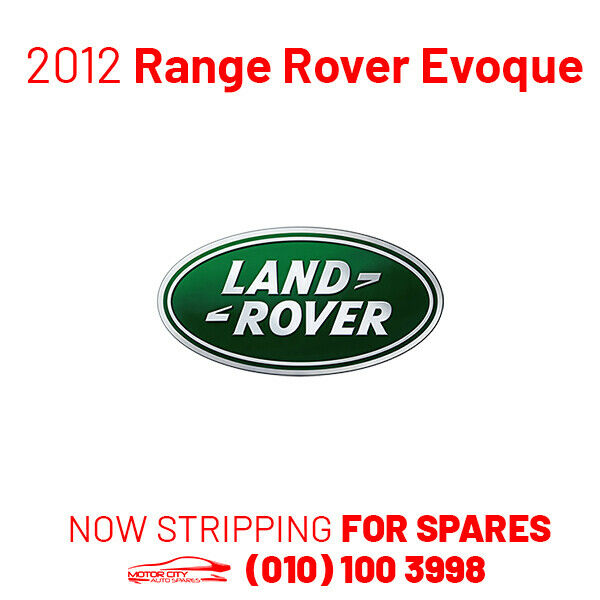 Now Stripping For Spares - 2012 Land Rover Range Rover Evoque 2.0 SD4 - Now Stripping For Spares