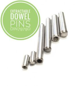 DIN7979C extractible Goujons Acier Inoxydable A1-303 4 mm à 20 mm