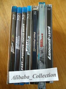 Blu-Ray-Bluray-Lote-Fast-And-Furious-1-2-3-4-5-6-7-Steelbook-Vin-Diesel
