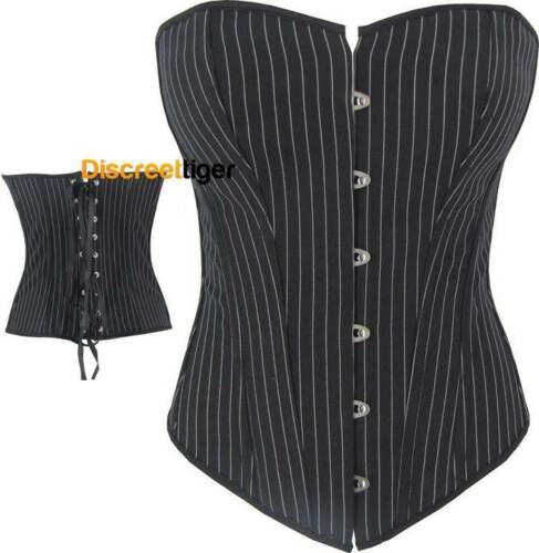 Womens Corsets Top Steampunk Brocade Burlesque Vintage Lace Satin Sizes 6 to 28