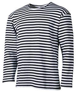 051aebe05c93d2 Das Bild wird geladen MFH-Russisches-Marine-Winter-T-Shirt-langarm- Matrosenshirt-