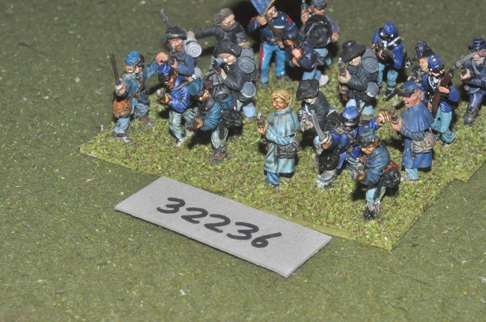 25mm ACW   union - regt 20 figures - inf (32236)