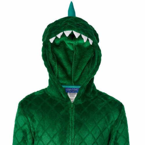 NWT Boy/'s Dinosaur Hoodie One Piece Union Suit Pajamas 6 8 10 12 14 CHRISTMAS