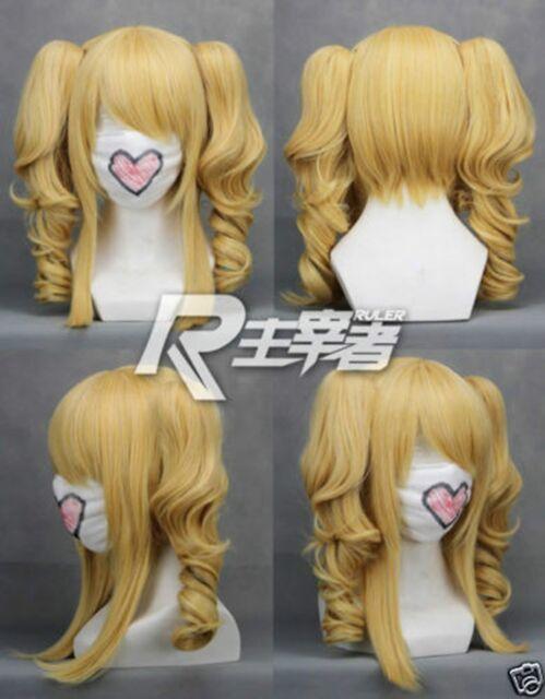 Blonde VOCALOID KASANE TETO Elizabeth Black Butler Cosplay Wig +2 ponytails