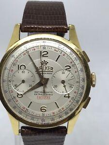 WALKER LA CHAUX-DE-FONDS CHRONOGRAPH 17 JEWELS ANTIMAGNETIC 45525 18k Gold Watch