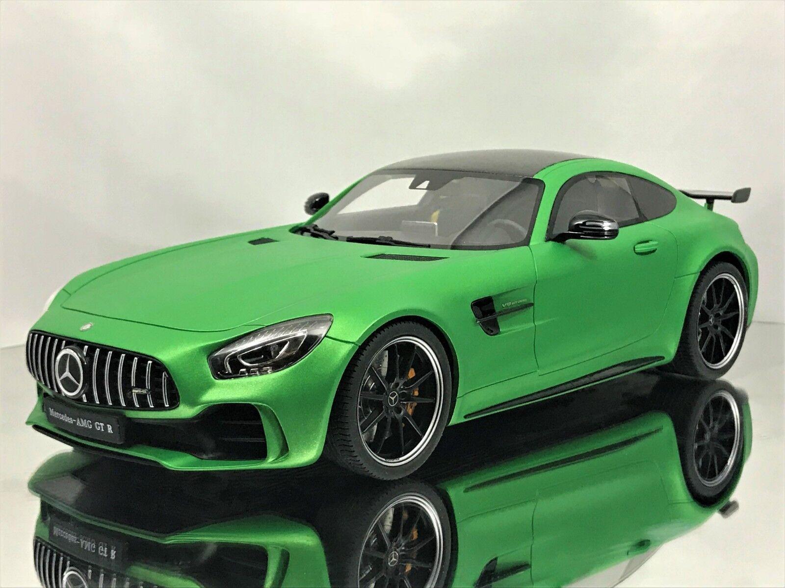 GT anda Mercedes -Benz GT R AMG (C190) Coupe Mango grön Hell modellllerler Bil 1 18