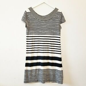025493510925 Image is loading MAEVE-Anthropologie-Navy-Blue-White-Haven-Stripe-Dress-