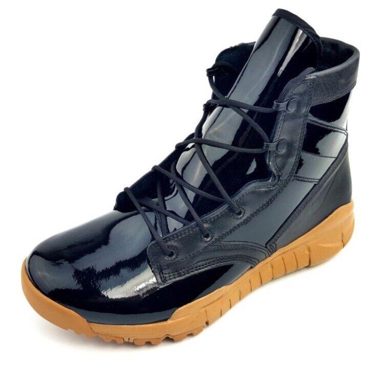 Nike filiale sfb stivali 6 sp speciale campo stivali sfb neri brevetto gomma 729488-009 sz 6,5 8 uomini donne 615375