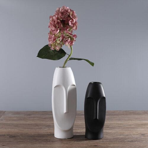 Ceramic Vase Flower Ornament Plant Pot Home Decoration Decor Stylish Heads White