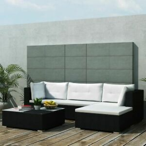vidaXL-Outdoor-Sofa-Set-14-Pieces-Wicker-Poly-Rattan-Black-Garden-Patio-lounge