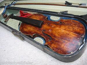 """Responsable Très Ancienne Français Violon """"w.m Paris"""" Very Old French Violin-afficher Le Titre D'origine Soulager La Chaleur Et La Soif."""