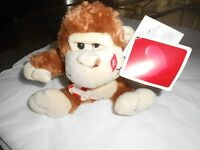 Wal-mart Walmart Plush Brown Cream Monkey 6 Heart Lips Ape
