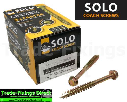 6 x 80mm TIMCO SOLO COACH SCREW HEX FLANGE HEAD SLEEPER SCREW TURBO COACH SCREW