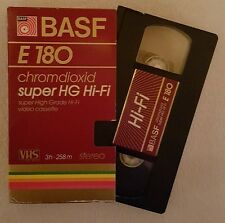 BASF VHS videocassetta e 180 CROMO diossido SUPER HG Hi-Fi - 258 M estremamente RAR!!!