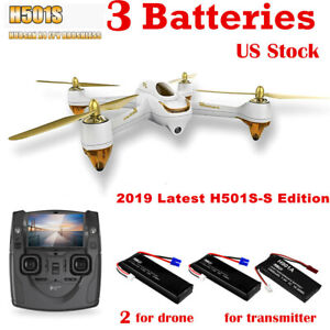 Hubsan H501S Quadcopter 5.8G FPV Brushless 1080P GPS Drone,SS Edition+3Batte