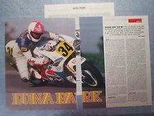 MOTOSPRINT989-RITAGLIO/CLIPPING/NEWS-1989- SUZUKI RGV 500 - 3 fogli