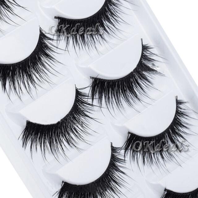 Beauty Thick 5 Pairs Makeup False Eyelashes Long Handmade Eye Lashes Extension.