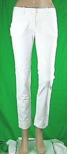 Pantaloni Donna MET Jeans Italy C604 Gamba Dritta Bianco Tg 28 veste grande