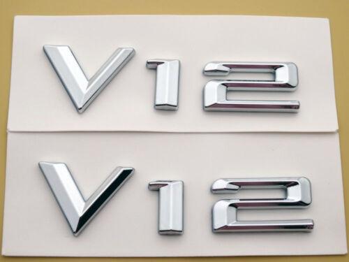 2pcs V-12 Body Side Emblems Badge Decals for BMW Sport V12 X3 X4 X5 X6 SUV