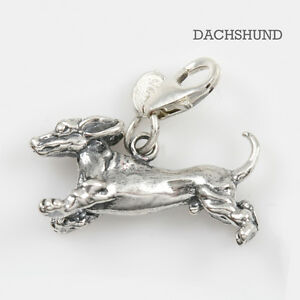 Dachshund-Dog-Charm-3-D-Solid-Sterling-Silver