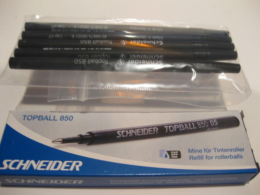 Schneider Topball 850 Black 0.5 mm Rollerball Refills 2//pk