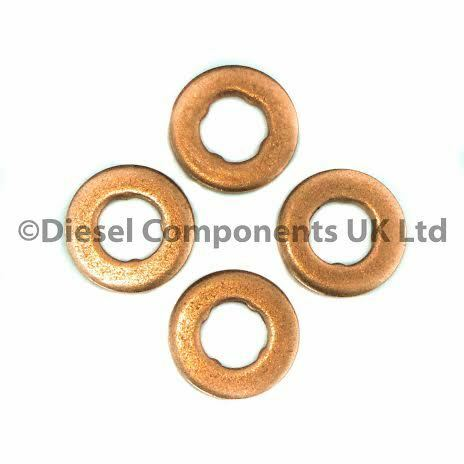 BOSCH INJECTORS PEUGEOT 206 1.4 HDI DIESEL INJECTOR WASHERS PK OF 4