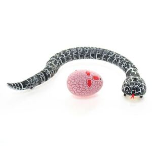 Infrared Remote Control RC Black Rattlesnake Snake Fun Joke Gag Toy USB Charging