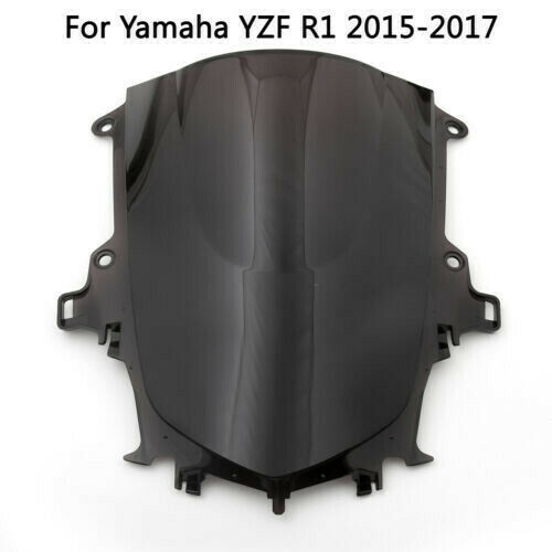 NEW ABS Windshield Double Bubble Windscreen For Yamaha YZF R1 1998-2017 US Black