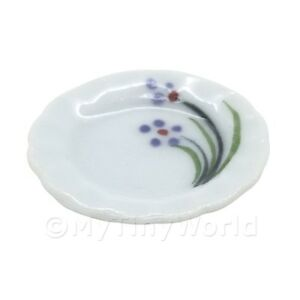 4x-Miniatura-Para-Casa-De-Munecas-Violeta-Simple-Diseno-de-flores-20mm-ceramica
