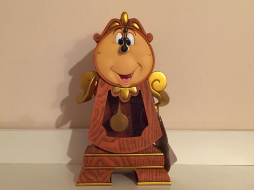 Disney Parks Beauty /& The Beast Clock Cogsworth Figurine Figure New With Box