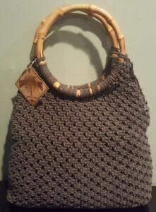 Women-s-Caribbean-Joe-Gray-7829-Knitted-Handbag