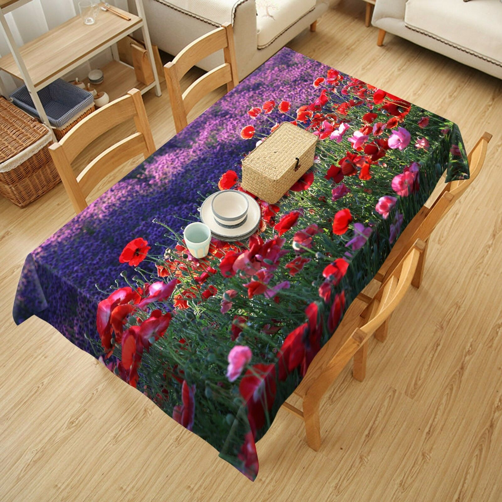 3D Flower 4480 Tablecloth Table Cover Cloth Birthday Party Event AJ WALLPAPER AU