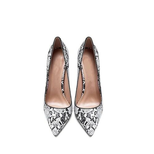 Details about  /Sexy Womens Snakeskin Pattern Pointy Toe Stilettos High Heel Party Slip On Pumps