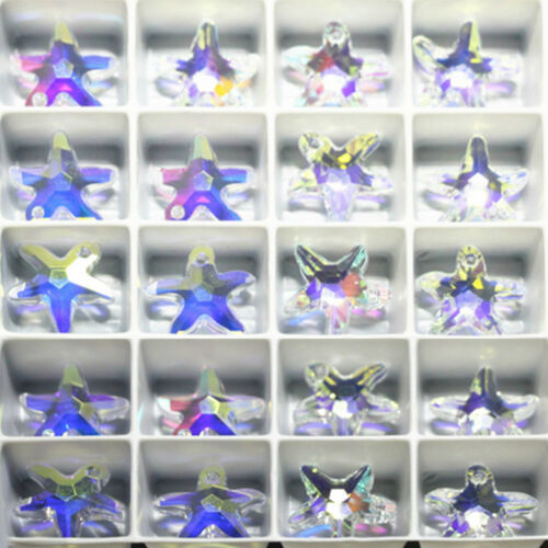 50//100Pc Mini Starfish Glass Crystal Charm Pendant Drop For Necklace Accessories