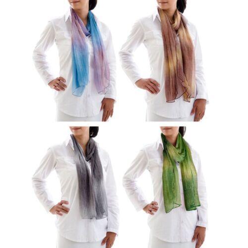 Lest arie Sciarpa da Donna Chiffon Sciarpa Sciarpe Scialle NUOVO FOULARD SCARF