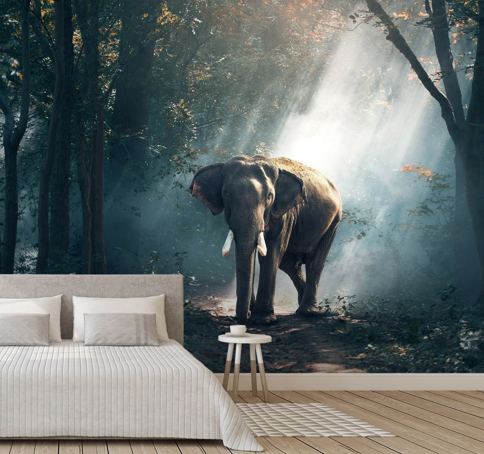 3D Woods Elephant 29 Wall Paper Exclusive MXY Wallpaper Mural Decal Indoor