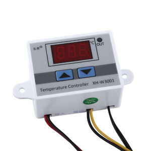 1X(Digital LED temperatura del termostato interruttore di controllo N9P8)