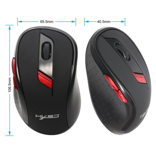 2.4Ghz Mini Wireless Optical Gaming Mouse Mice with USB Receiver For PC Laptop