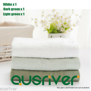3× BrandNew Bamboo Fiber Soft absorbent Three Plain Hand Face Bath Towel 72×33cm