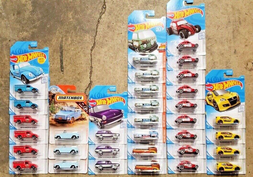 bienvenido a comprar Hot Wheels Volkswagon Volkswagon Volkswagon Lote de 33 duro para encontrar coches T2 Pickup Momo Beetle Matchbox  venta con alto descuento