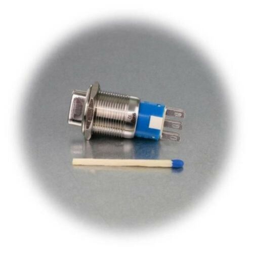 3A,IP50,Reversing Stainless Steel Rotary Switch Turn-Switch Metal 1//2-pin,250v