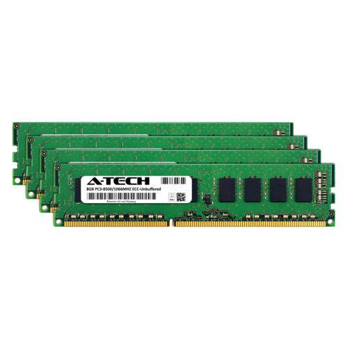 32GB KIT 4X 8GB PC3-8500 UNBUFFERED APPLE Mac Pro MacPro4,1 MC561LL//A MEMORY RAM