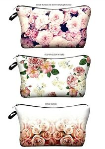 Roses-Cosmetic-Make-up-Bag-034-Aussie-Seller-034-Toiletry-Bag-Pencil-Case-Purse
