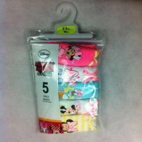 5 Pair Mickey Mouse /& Friends Girls Briefs Knickers BNIP Primark